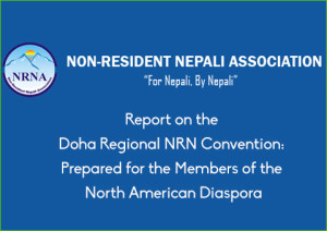 Report on the Doha Regional NRN Convention: Prepared for the Members of the North American Diaspora