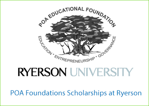 POA Foundations Scholarships at Ryerson