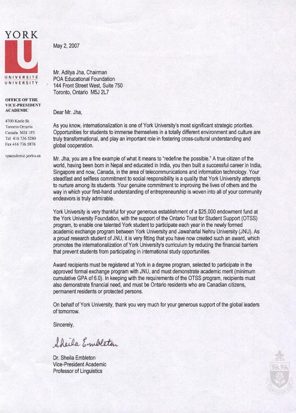 achnowledgement_letter_from_york_university2007